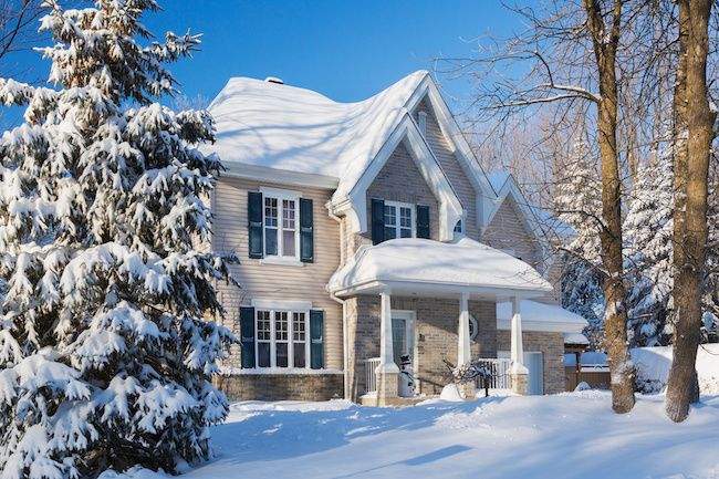 Winter Home in Snow 2020